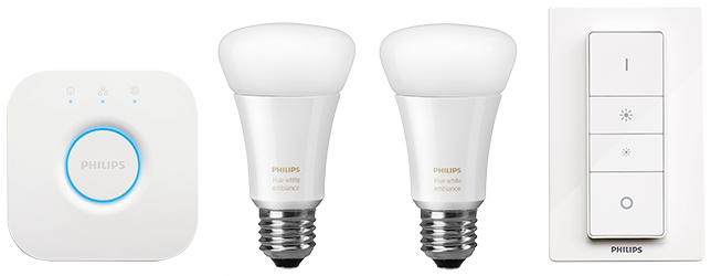Philips Hue White Ambiance starter kit A19